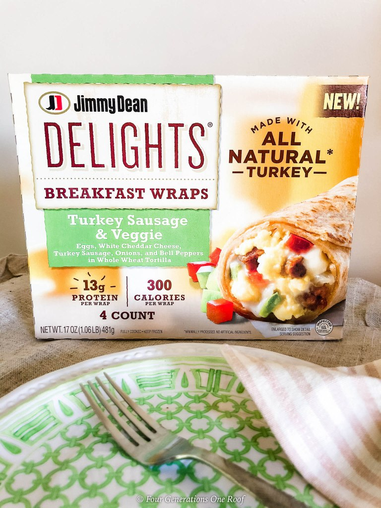 Jimmy Dean Delights Turkey Sausage and Veggie Wrap