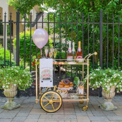 bridal shower bar cart-1