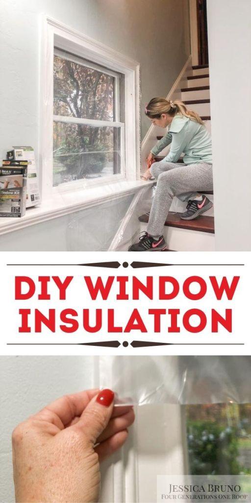 DIY window insulation with Duck Shrink Film Window Insulation Kit