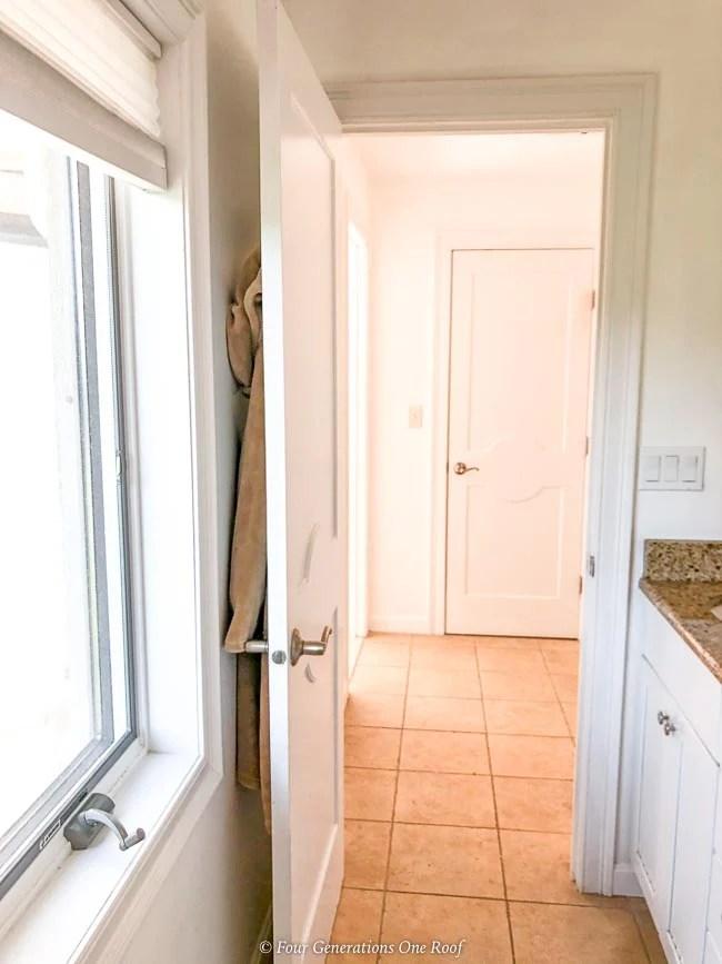Jack and Jill Bathroom with hallway access