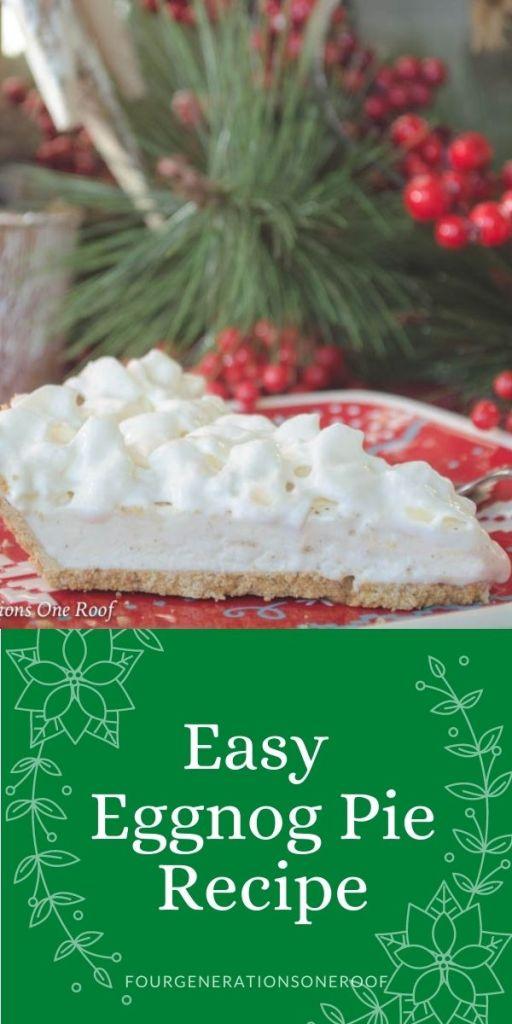 easy eggnog pie recipe