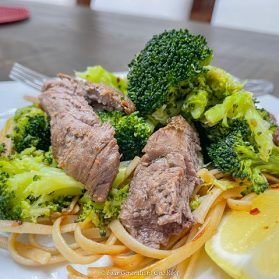 Low Calorie Sesame Beef Tenderloin with Broccoli