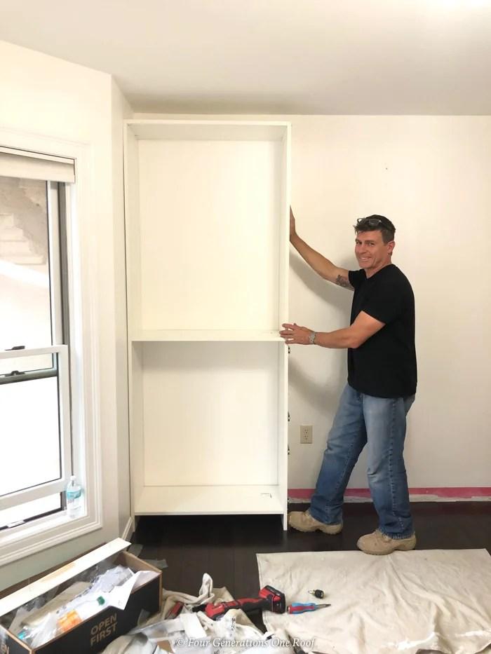 Easycloset white closet shelving unit