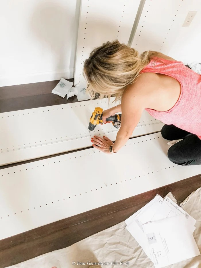 Easyclosets wall system