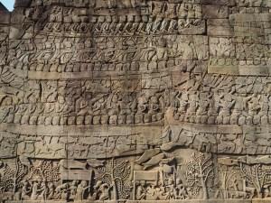 Angkor bas relief