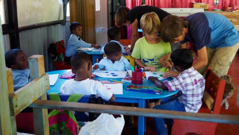 Teaching at St. Andrews Church Preschool, Amherst Bazaar, Sri Lanka