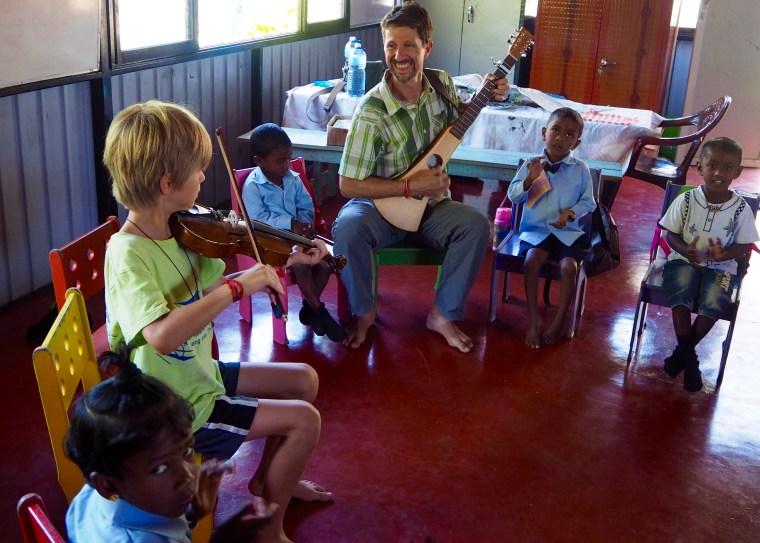 Music Class at St. Andrew's Church Preschool, Amherst Bazaar, Sri Lanka