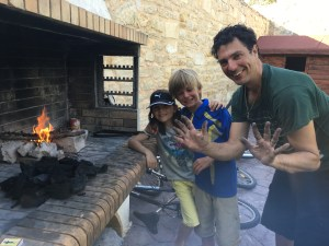 Grilling at home on Crete