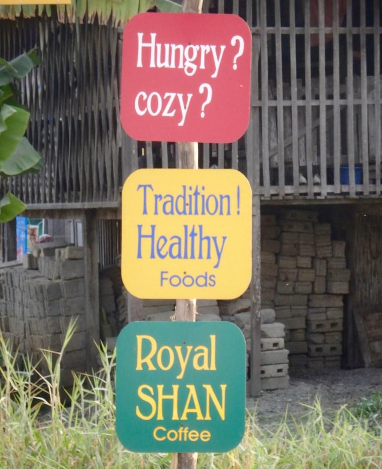 Hungry Cozy -- in Nyaungshwe, Myanmar