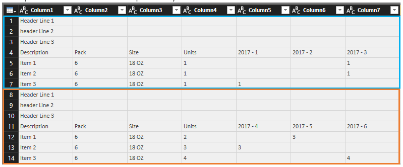 Power Query – How to get same row number for x number of