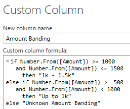 Multiple conditions for a conditional column in Power Query