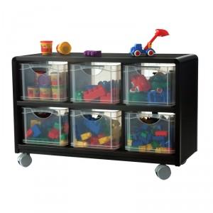 rangement mobile 6 tiroirs en plastique pour enfants