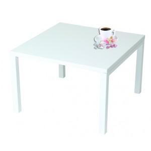 table basse eco plateau stratifie carre 80x80xh40cm 4 pieds metal