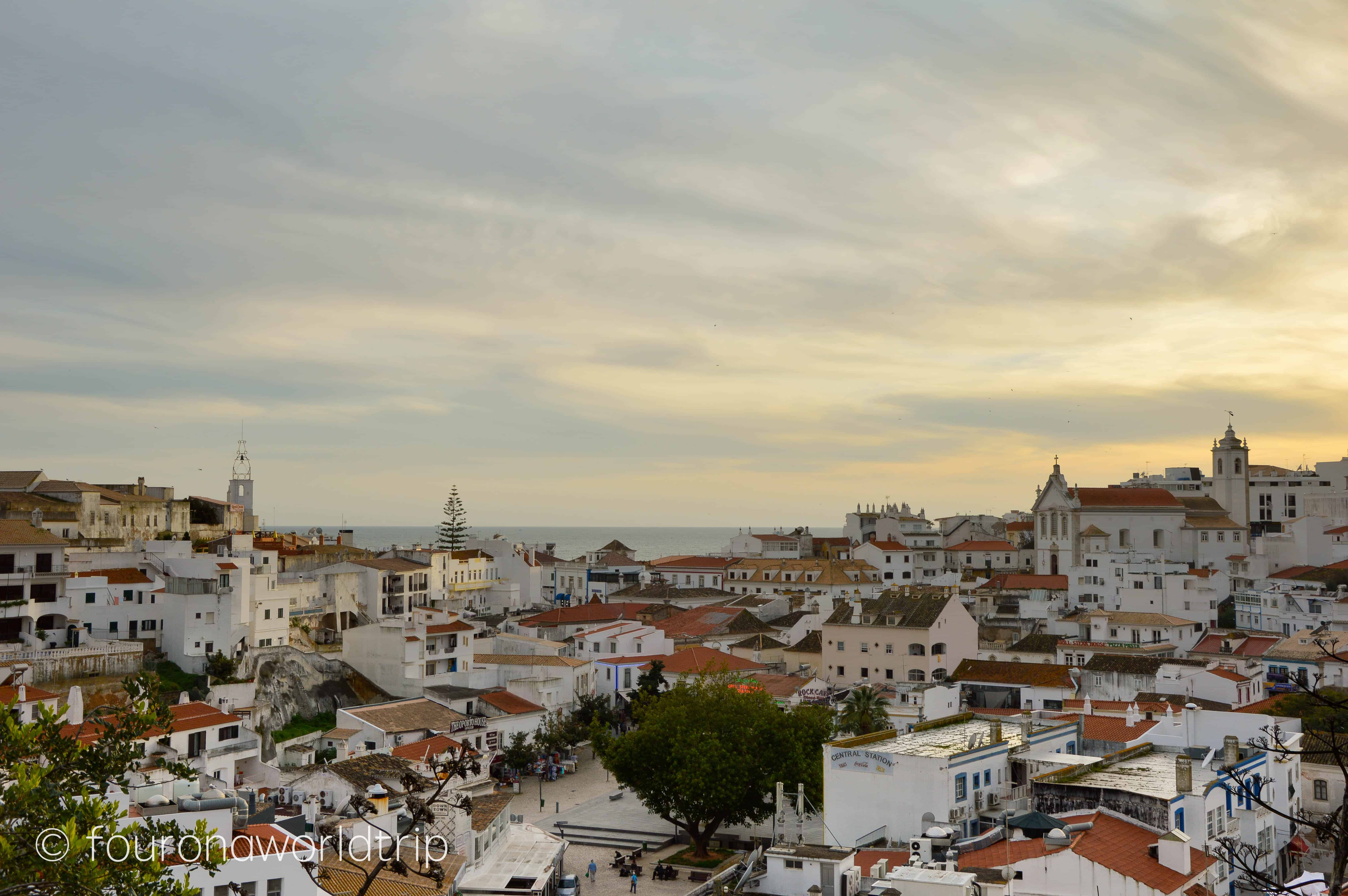 view over Albufeira's old town. Algarve in Winter is perfect to experience an early spring.