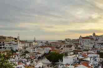 view over Albufeira's old town