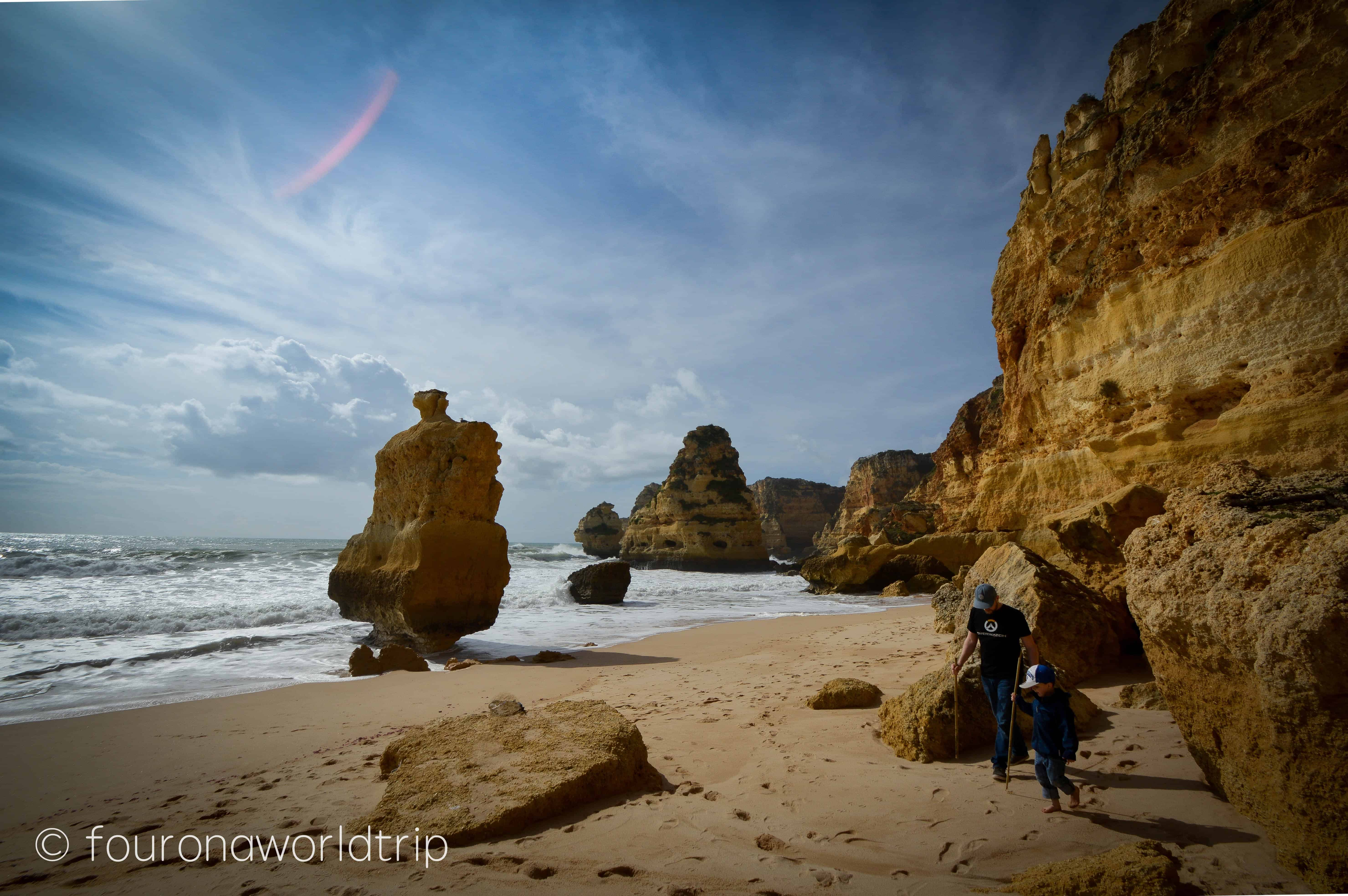 Exploring Praia de Marinha – the most famous rock formations in Algarve - Algarve in winter assures empty beaches and sunshine