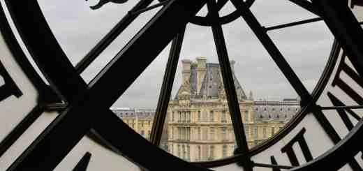 view from Musée d'Orsay to Louvre - the Musée d'Orsay is situated in an old train station and the remains are very visible throughout the building
