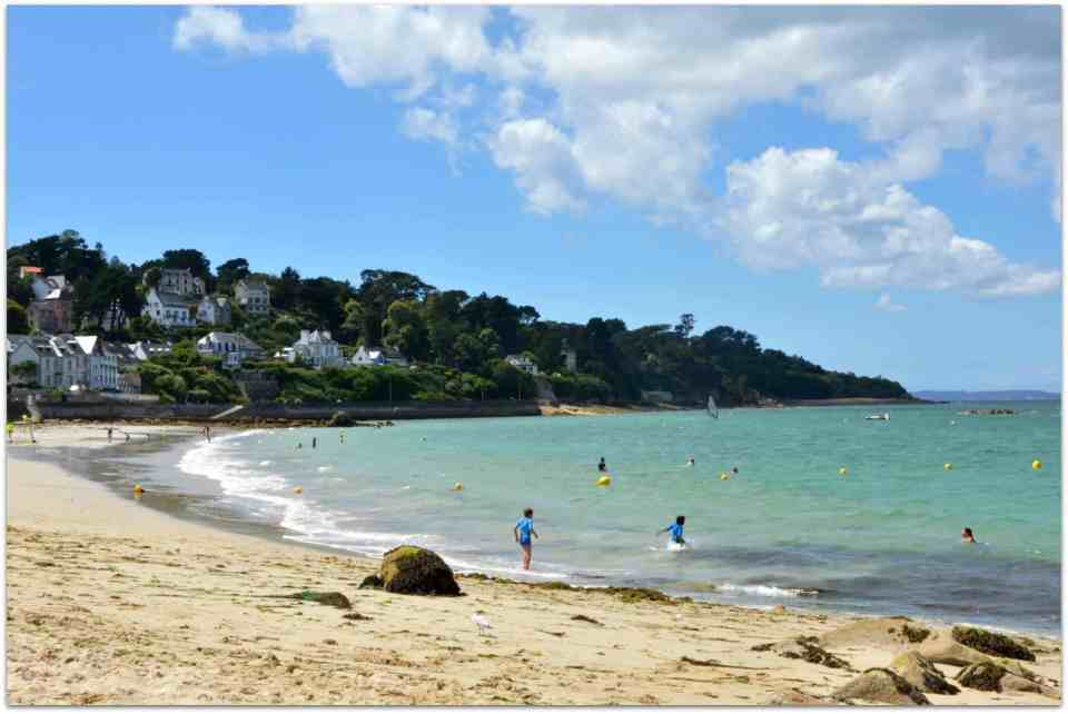 One of the beaches of Douarnenez - Tréboul Plage - west Bretagne
