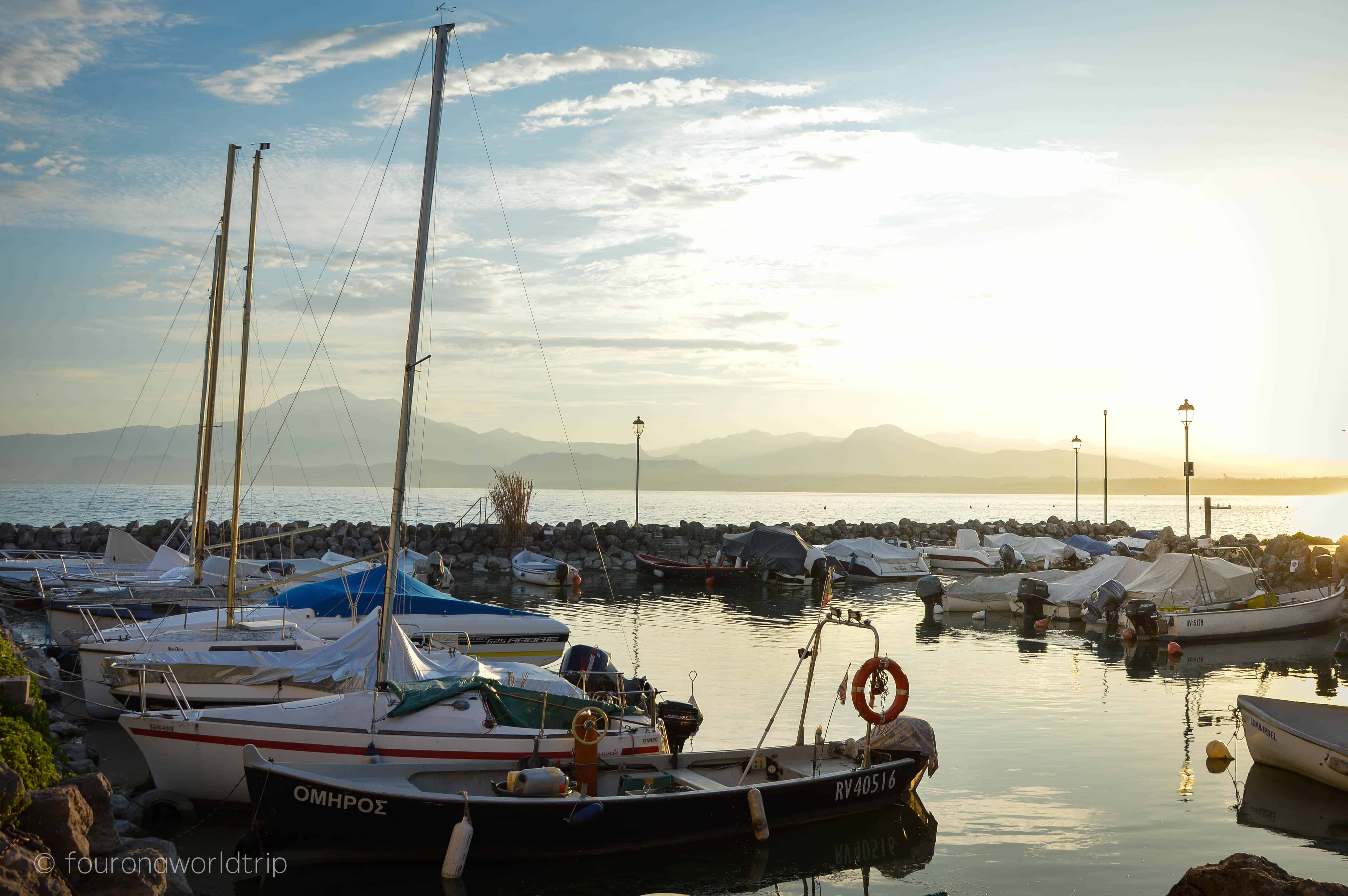 one of the plenty of little harbours around Lake Garda.