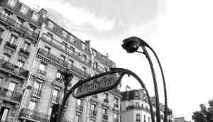 the classic metro sign - Paris No.1 way of transport