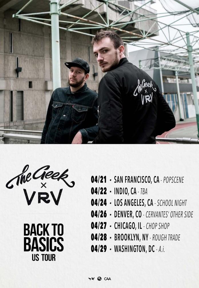 The Geek x Vrv tour poster