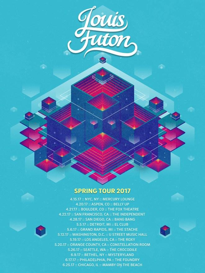 Louis Futon tour poster