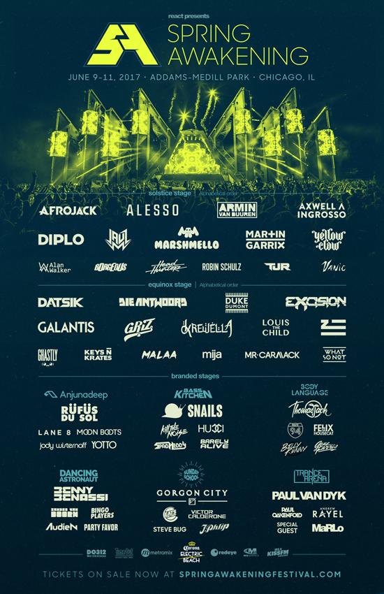Spring Awakening Music Festival poster
