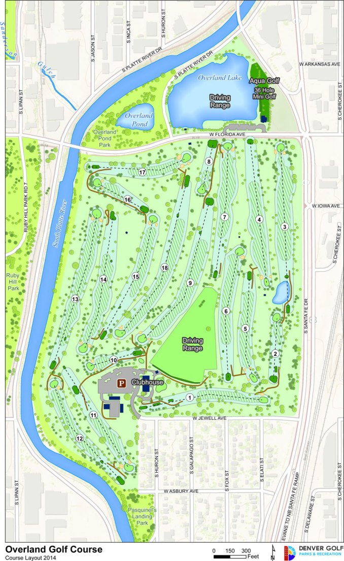 Overland Park Golf Course layout