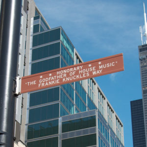 Frankie Knuckles street sign