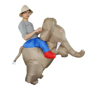 Elephant suit with rider