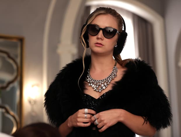 Billie Lourd earmuffs