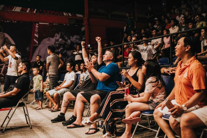 sitting at a concert