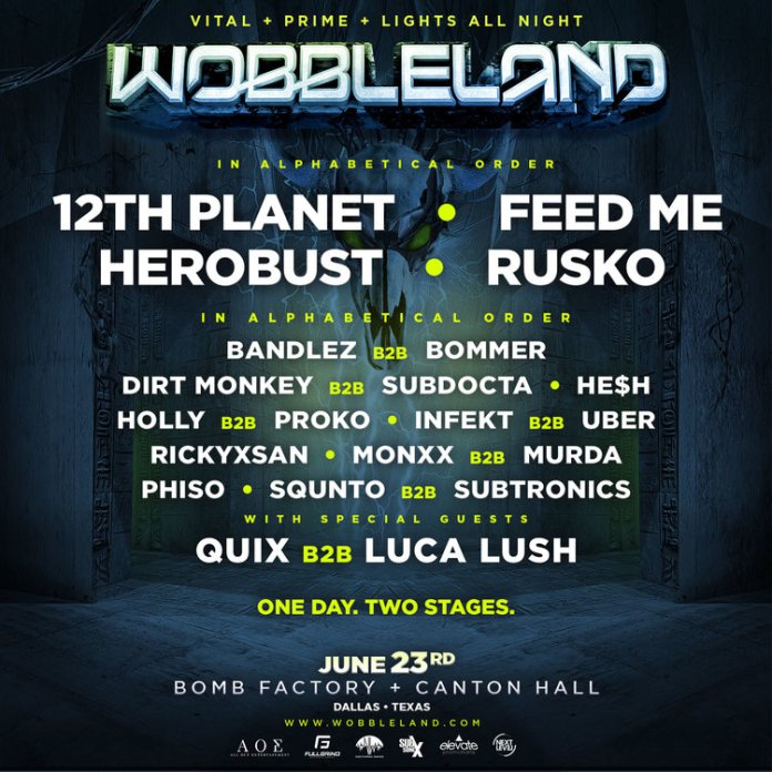 wobbleland 2018 dallas 2018 poster