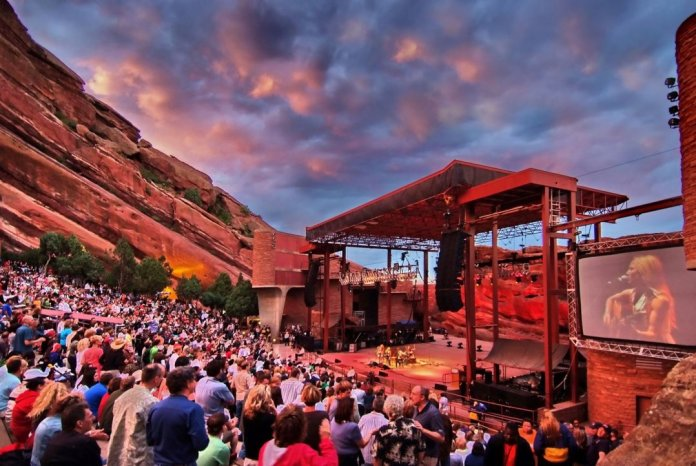 Red Rocks Amphitheater Denver record labels