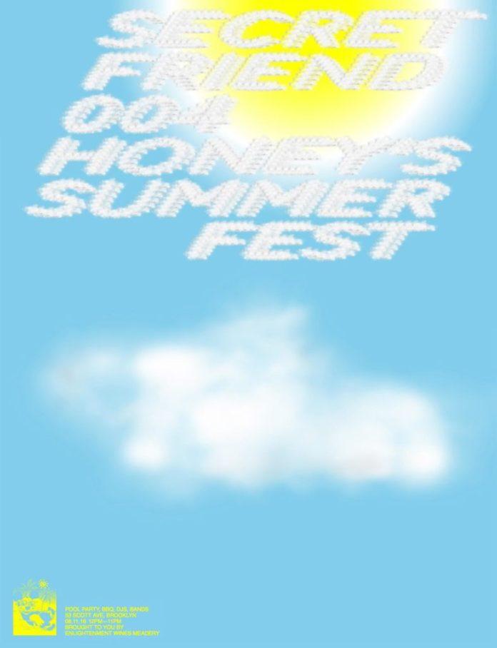 Secret Friend summer fest lineup poster