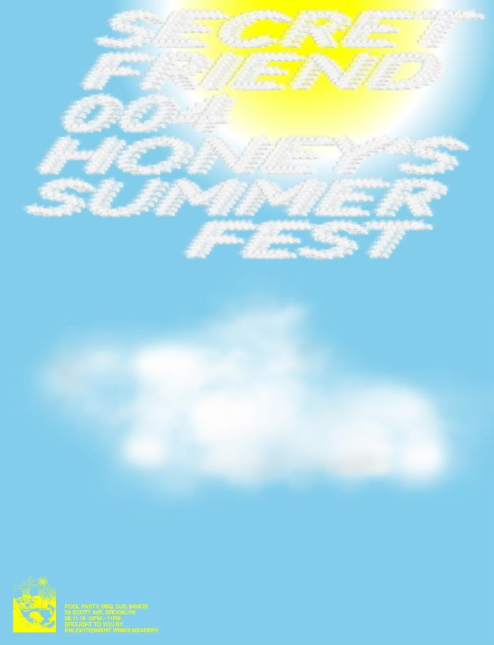 Secret Friend summer fest lineup poster
