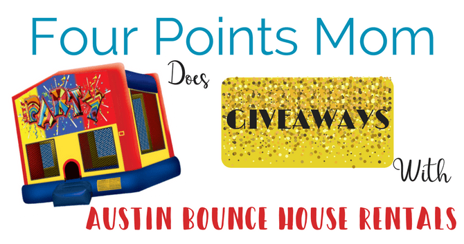 Four Points Mom does Giveaways with Austin Bounce House Rentals