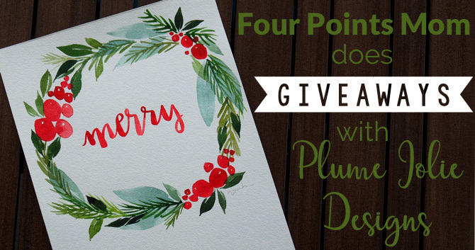 Four Points Mom does Giveaways with Plume Jolie Designs