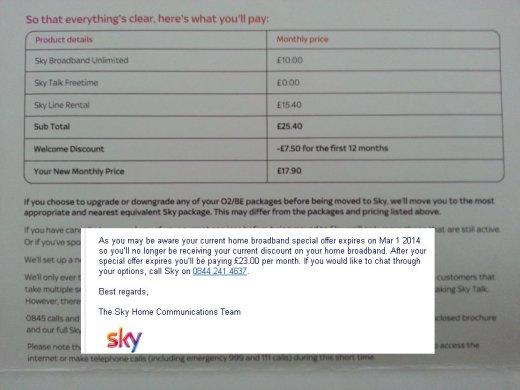 Sky says vs Sky means