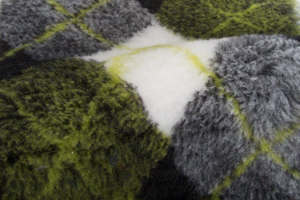 tissu fausse fourrure vert ecossais au