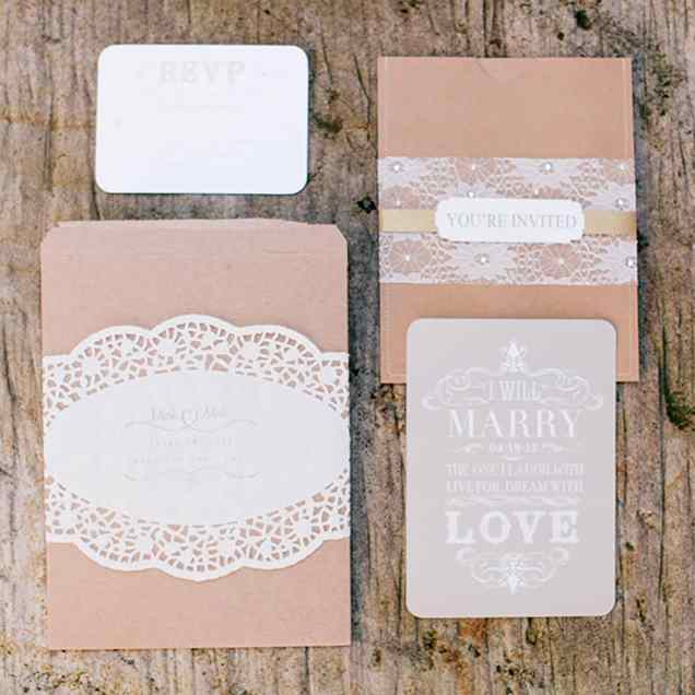 The Rustic Invitations Were Handmade By Bride
