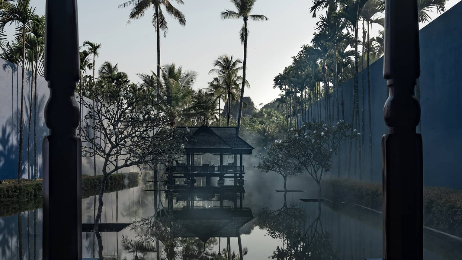 Ilham Pavilion reflection pond at Four Seasons Resort Langkawi