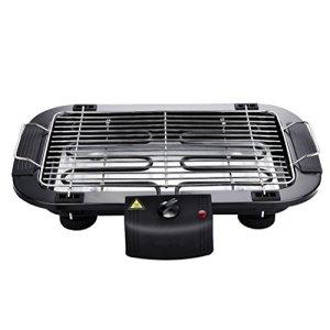 Ounona électrique 2000Watts antiadhésive Grille pour barbecue grill de table électrique avec prise anglaise