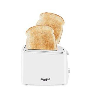 Kitzen Grille-pain à 2 tranches de 2 tranches • 2 fentes • Réchaud de réchauffement • 800 W • Fonction de dégivrage • Fonction de thawning et de réchauffement • Commande de brunissement à variation continue , white a vie de luxe