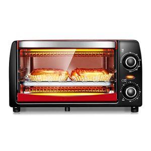 Peaceip Four mini 12L avec réglage de la température 0-230℃ et 0-60 min minuterie, grille-pain porte 1050W double vitrage rouge