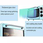 Mini four électrique 20L avec réglage de la température 0-230°C wnd 0-60min Timing 1400W trois couches multifonction automatique petit four bleu