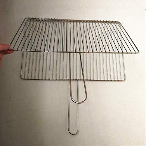 KEKEYANG Barbecue Griller panier, Barbecue clip Net Téméraire barre verticale en acier inoxydable Grilled poisson Beats Encrypted Clip de légumes grillés Grillé Extérieur