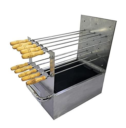 YNLRY Brochettes de barbecue en acier inoxydable – Accessoires de barbecue – Outil de cuisine pour la maison ou le parc – Couleur : grille de barbecue