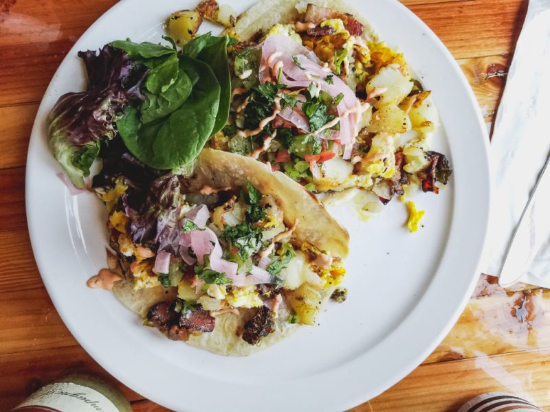 Breakfast Tacos at TallBoys Breakfast AF on Fourth Avenue (credit: Tucson Foodie)