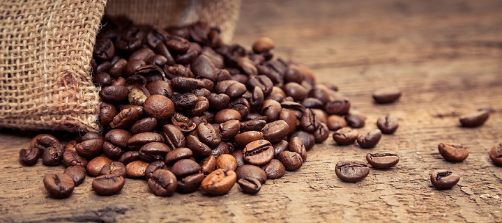 Fresh roasted coffee beans concept